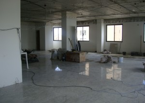 Reforma da sala que vai abrigar a clínica do Asfeb Saúde