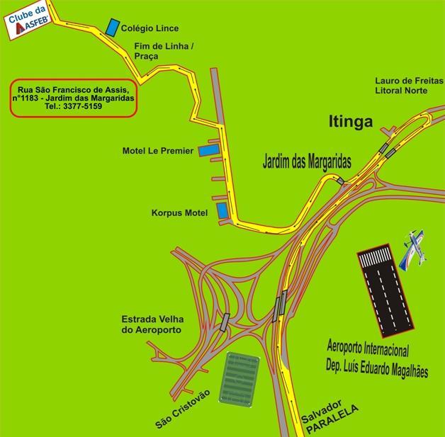 Mapa do Clube da Asfeb