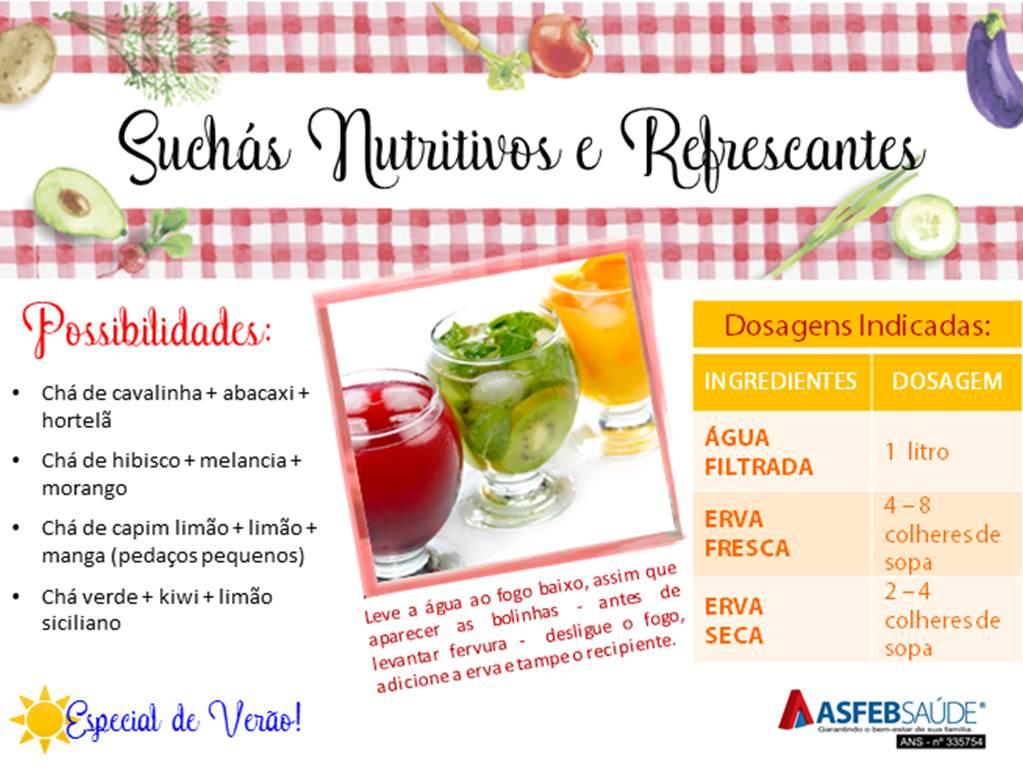 Dicas de Saúde 02 - Suchás Nutritivos e Refrescantes